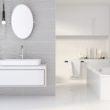 Nowoczesna łazienka: jasna i z efektem głębi