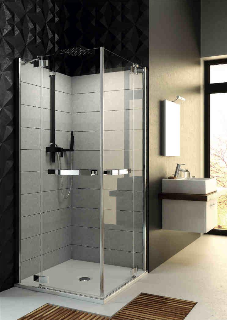 Metal i szkło czyli industrialnie pod prysznicem – galeria