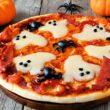 Domowa pizza z duszkami idealna na Halloween